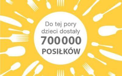 Już 700 tysięcy pełnowartościowych posiłków trafiło dodzieci.